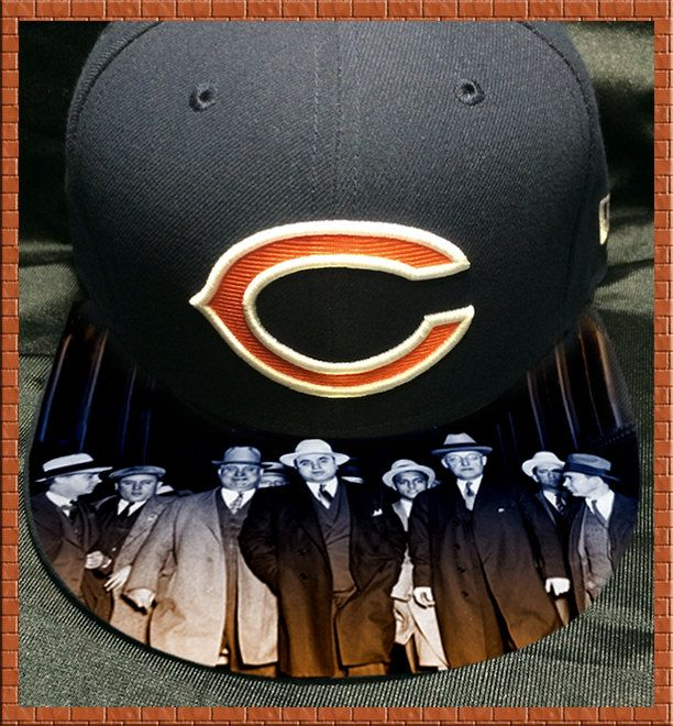 f08f8081 Chicago Bears Authentic New Era Fitted Cap with Custom Bill by ...