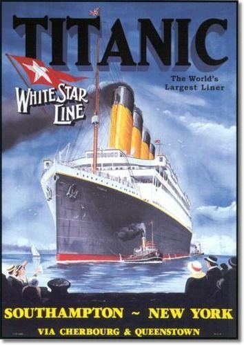 Style rétro vintage signe de publicité voyage Titanic signe de porte,