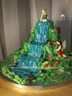 waterfallcake Cakes Waterfalls Pinterest Waterfall cake