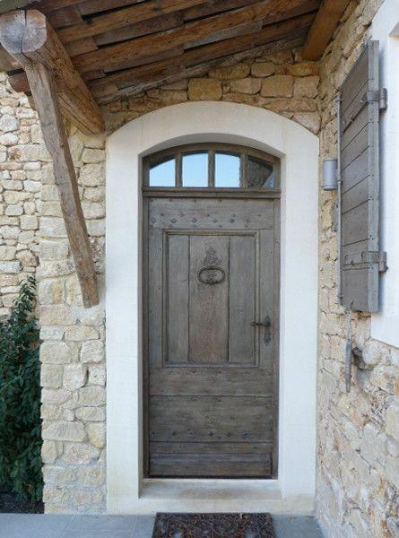 Porte pleine avec patine Porte de 95x240cms Portes du0027entree - dimensions porte d entree