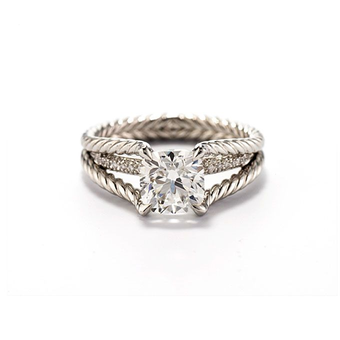 Unique Engagement Ring Settings David yurman Cushion cut