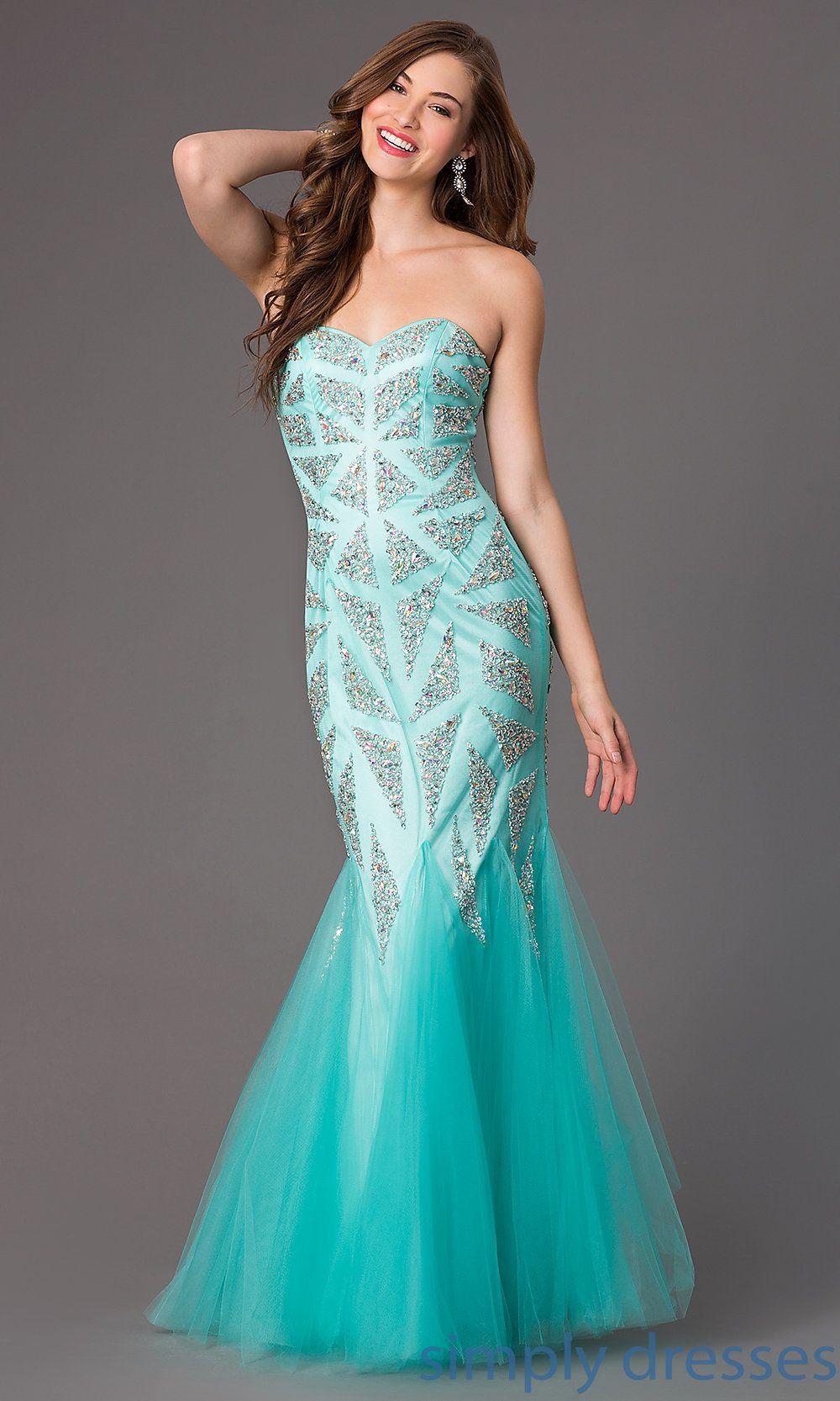 Dresses, Formal, Prom Dresses, Evening Wear: Strapless Sweetheart ...