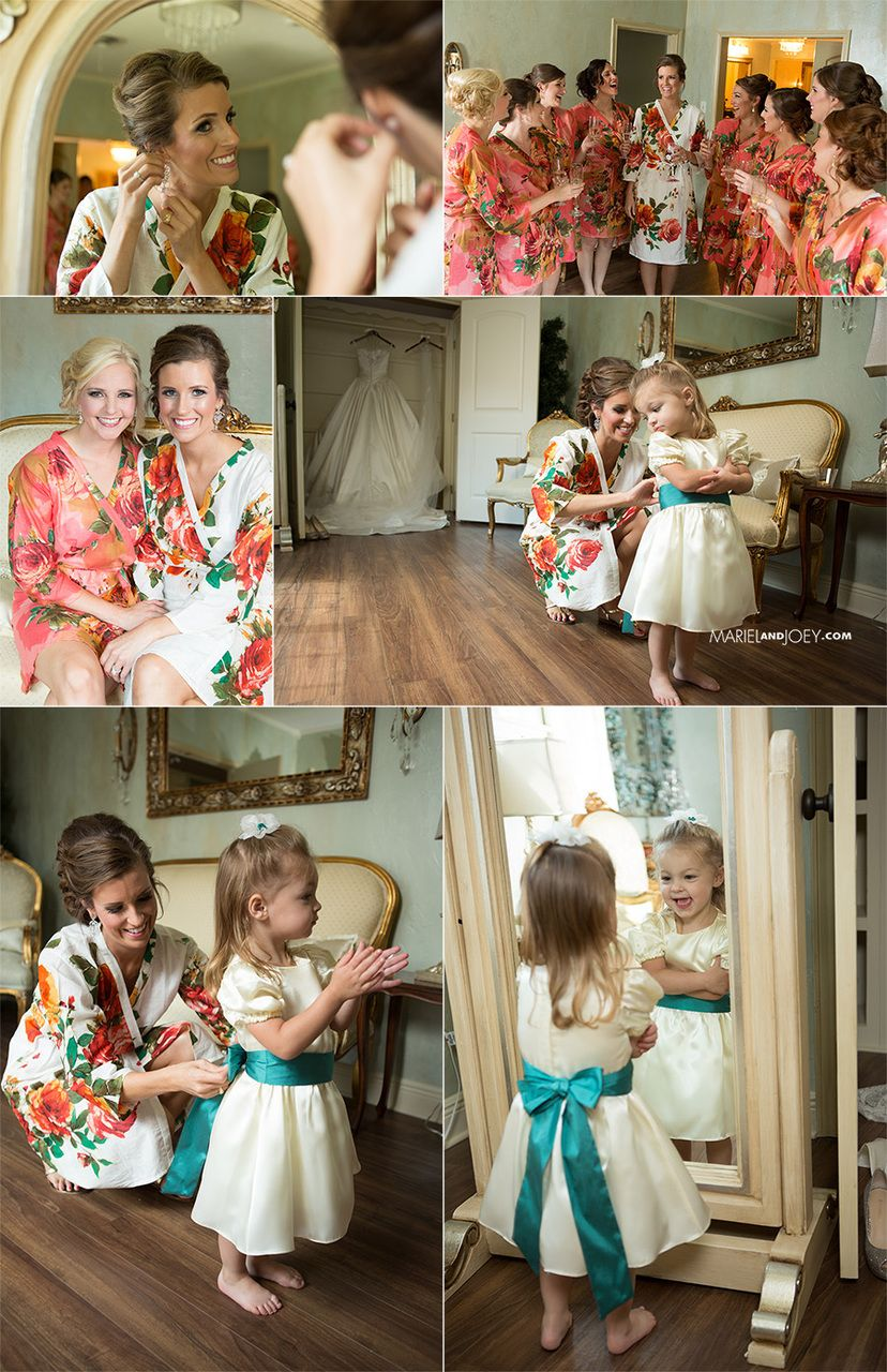 Robes by silkandmore - Coral Large Floral Blossom Robes for bridesmaids | Getting Ready Bridal Robes, $25 (http://robesbysilkandmore.com/coral-large-floral-blossom-robes-for-bridesmaids-getting-ready-bridal-robes/)