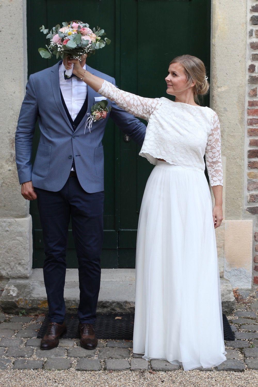 Boho Braut Mit Spitzentop Und Tullrock Braut Boho Braut Ballkleid Hochzeit