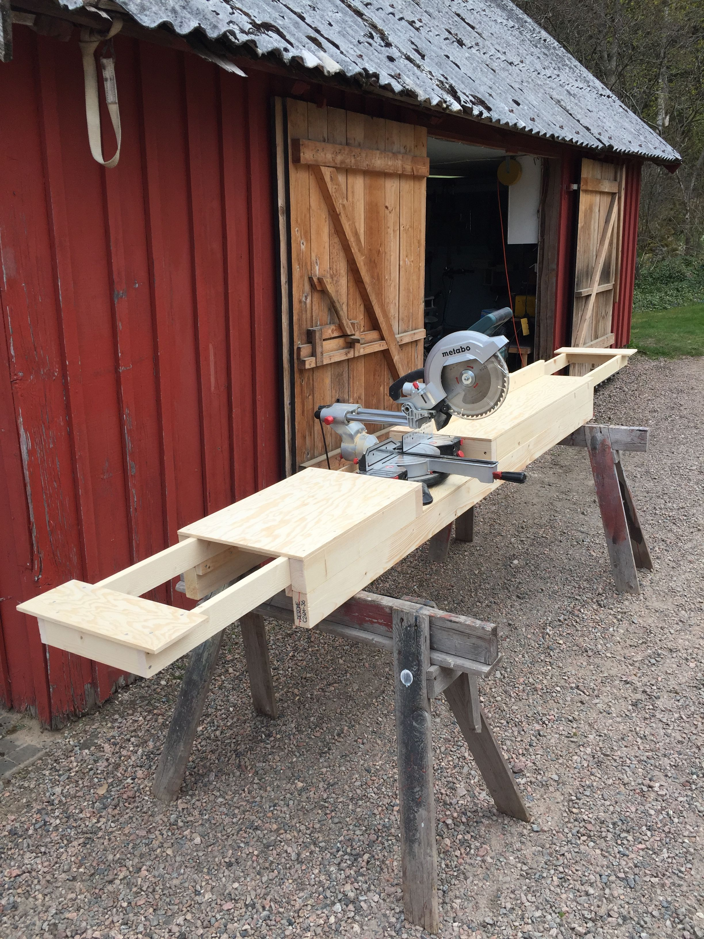Homemade Miter Saw Stand with extension wings (3) Плани