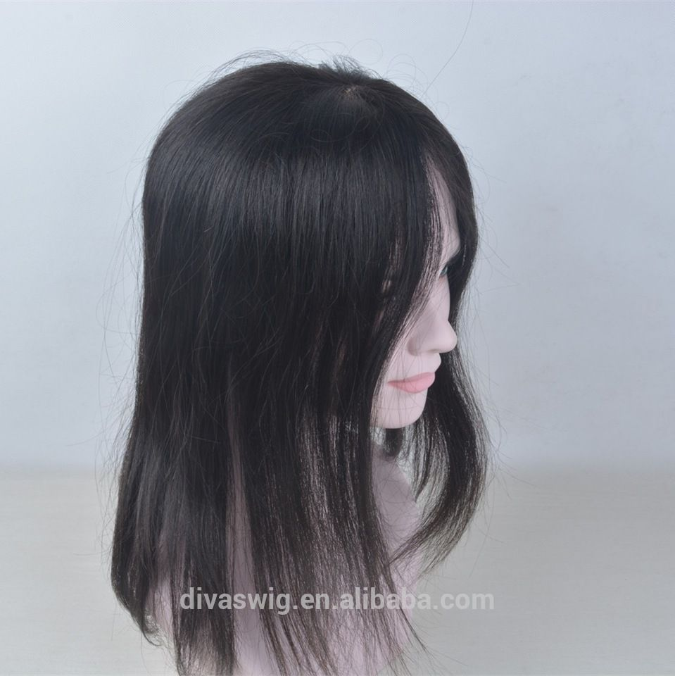 Free parting women thinning hair hand made Human Hair Topper
