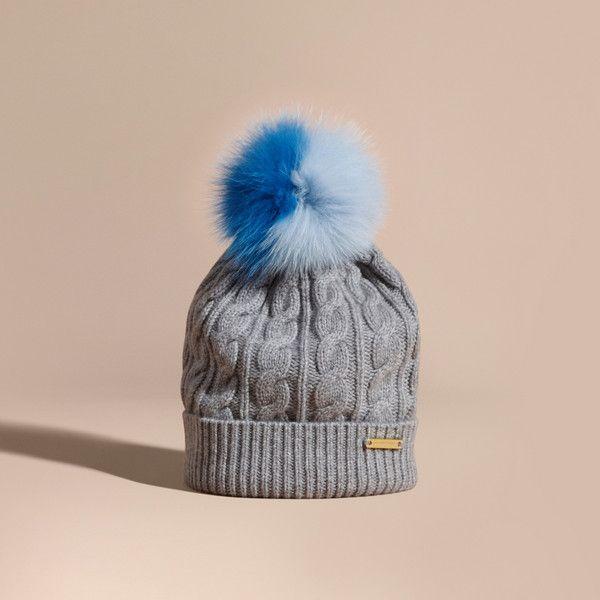 cable knit beanie - Blue Burberry Uliuov