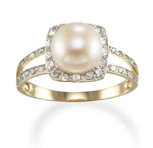classy pearl engagement rings - Pearl Wedding Ring