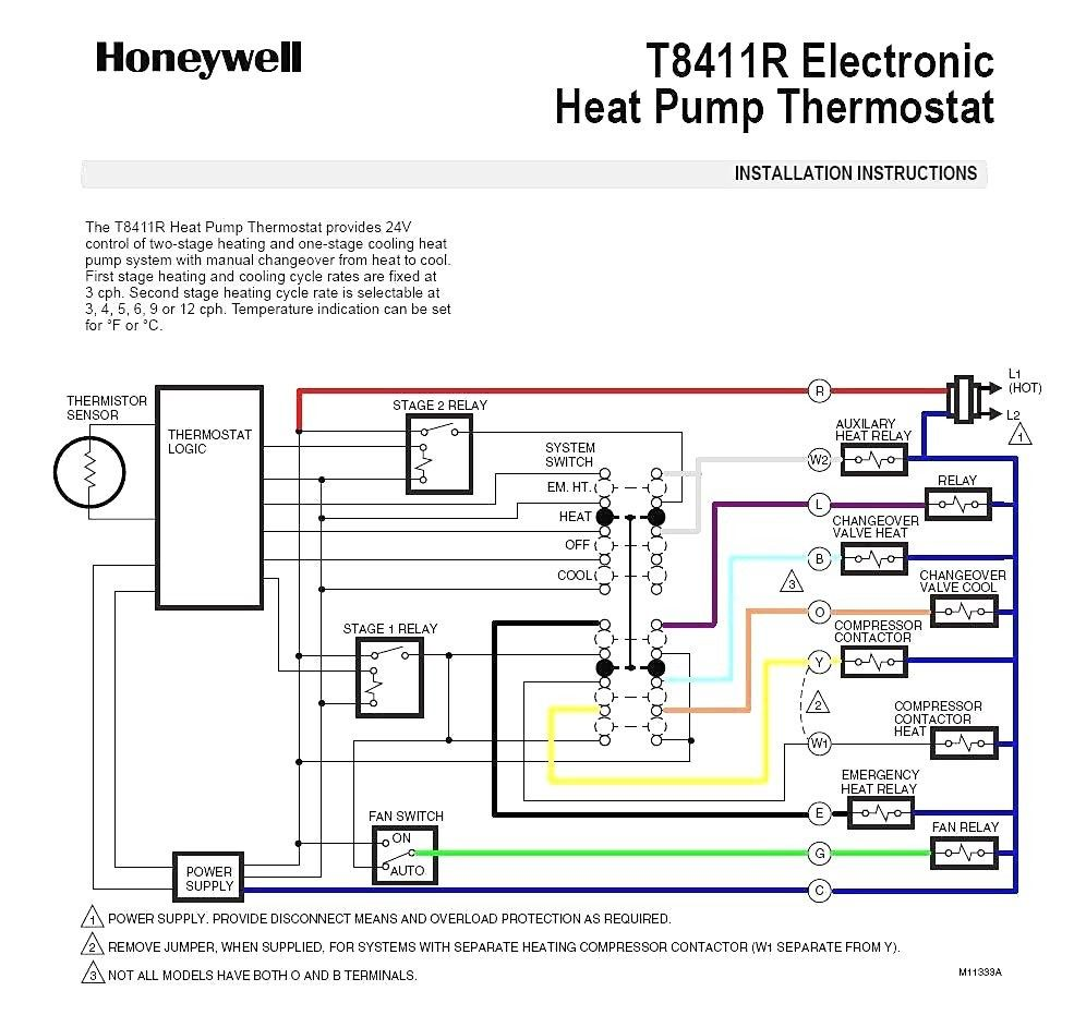 Rheem Heat Pump Thermostat Wiring Diagram Di 2020