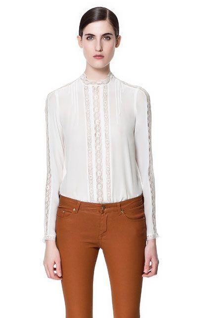 Quantité limitée chaussures authentiques vif et grand en style SILK LACE BLOUSE - Shirts - Woman - ZARA Romania | Must ...