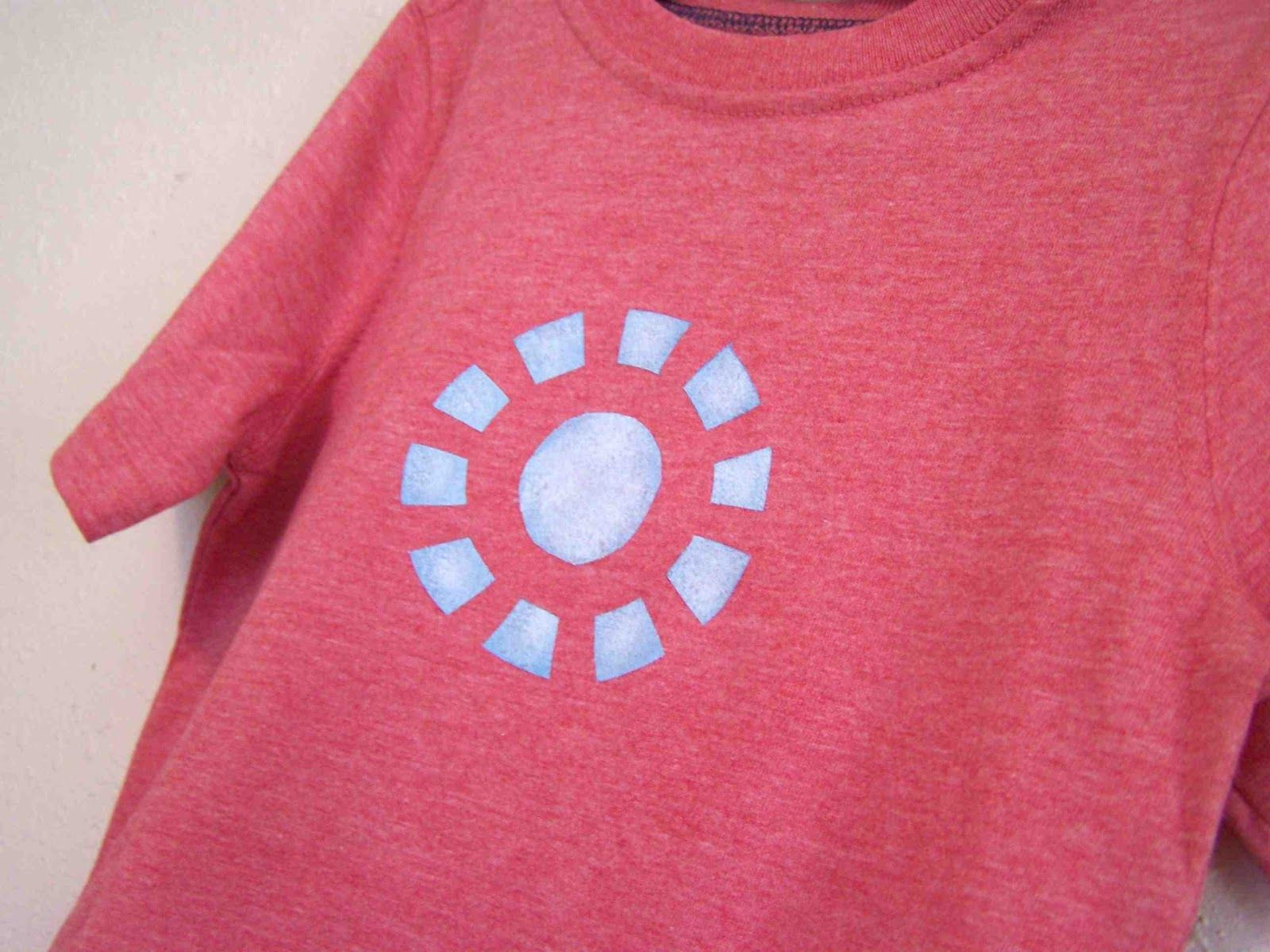 Iron Man Arc Reactor T Shirt, Includes Template / Make For Earnie,  Glow In The Dark Fabric Paint Or Iron On Transfer Maybe?