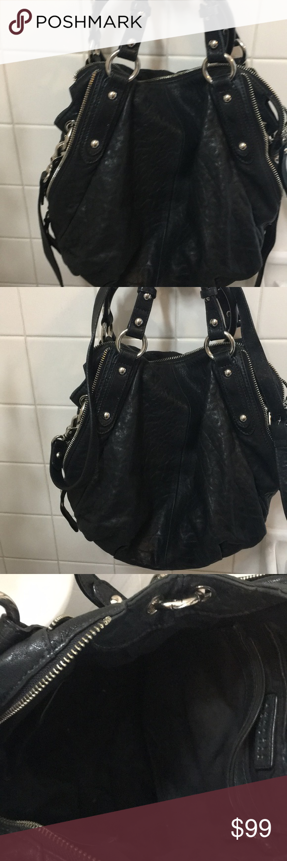 7dbdc72ca1 Barneys New York black leather stud purse Great condition very soft leather  from barneys New York brand Barneys New York Bags Crossbody Bags