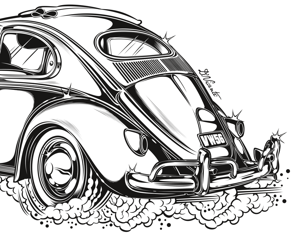 Illustration by peter aschwanden from john muir's how to keep your volkswagen alive a manual of step by step procedures for the pleat idiot