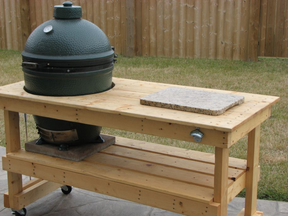 Big Green Egg Table Plans | Xl Big Green Egg Table Plans Plans Plans Garages