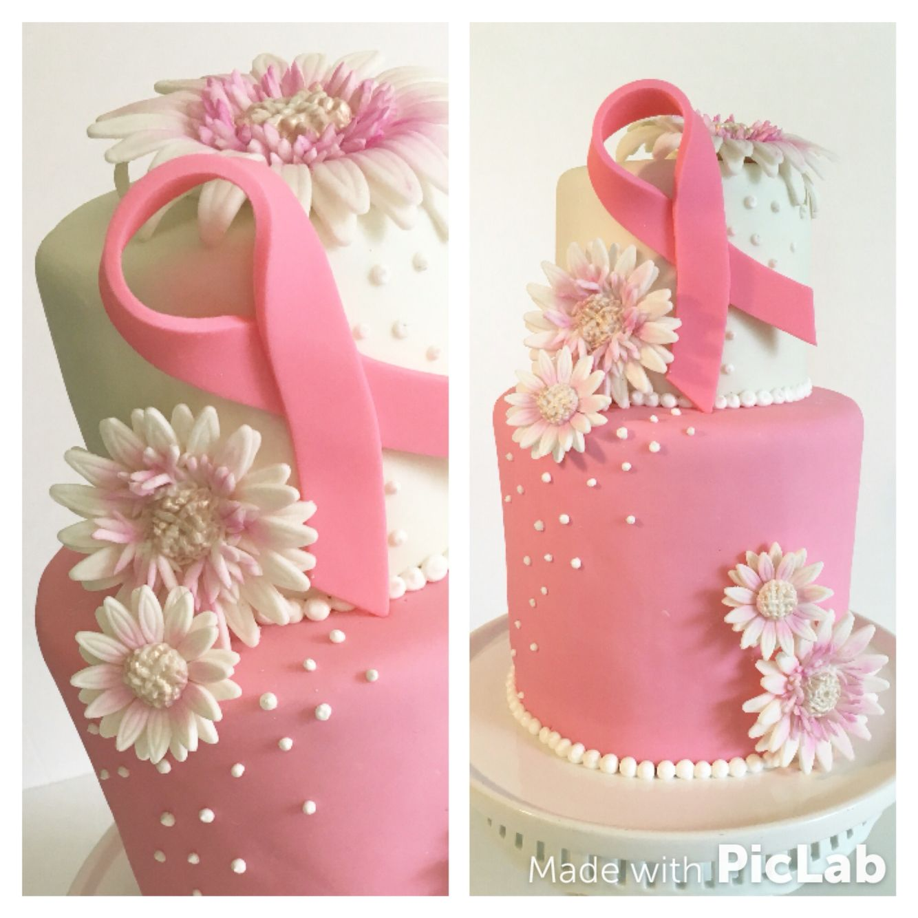 Breast cancer awareness cake. The Flour Basket | The three C\'s ...