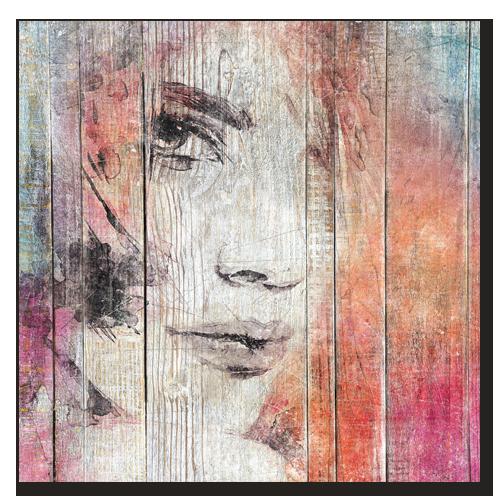 tableau bois regard de femme tableau mural effet bois. Black Bedroom Furniture Sets. Home Design Ideas