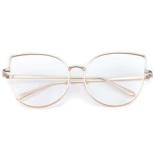 Oversized Clear Lens Full Metal Frame Non Prescription Frames For