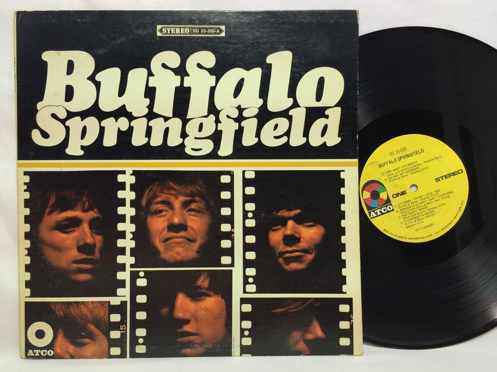 Buffalo Springfield Atco Sd33 200 Lp Vinyl Record Rock Songs For What It S Worth Album Covers