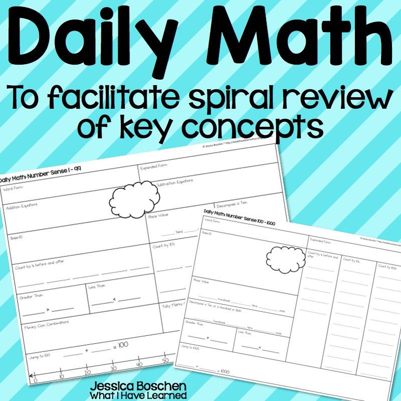Daily Math – A number routine to practice key math concepts ...