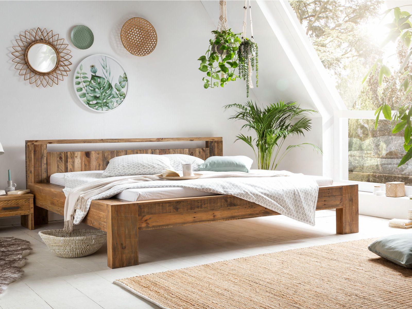 Holzbett Scottburgh Schlafzimmer einrichten, Holzbetten
