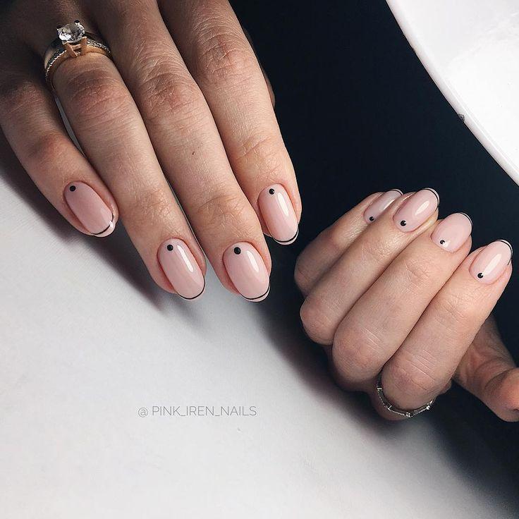 Woman Hair Style Minimal Nails Oval Nails Designs Hello Nails
