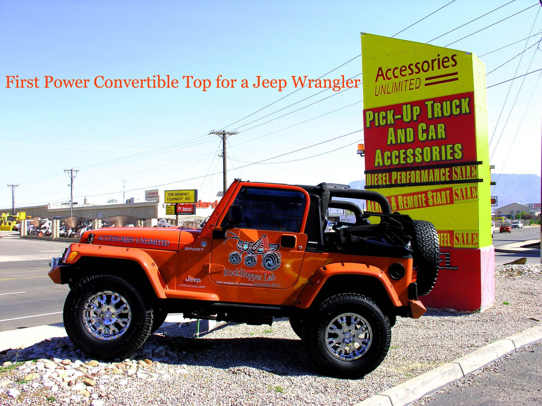 My 2006 jeep wrangler with power convertible top. BY ACCESSORIES ...