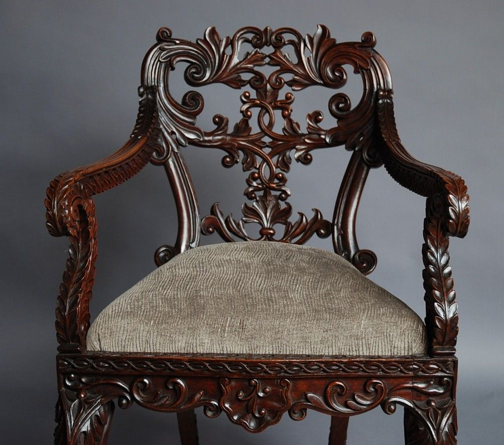 Set Of Six Anglo Indian Chairs 307515 Sellingantiques