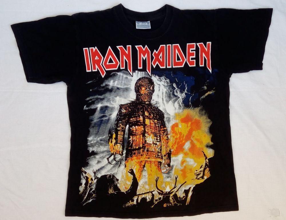 41e4f81313f6 RaRe vtg Iron Maiden Wicker man Brave New World T Shirt cotton Medium