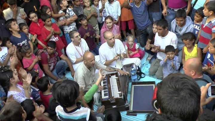 Harinama by the Krishna devotees cheers up Muslim refugee children in Hungary (3 min video) We are not Muslims, Hindus, Jews or Christians. We are not Afghans, Syrians, Germans or Hungarians. We are...