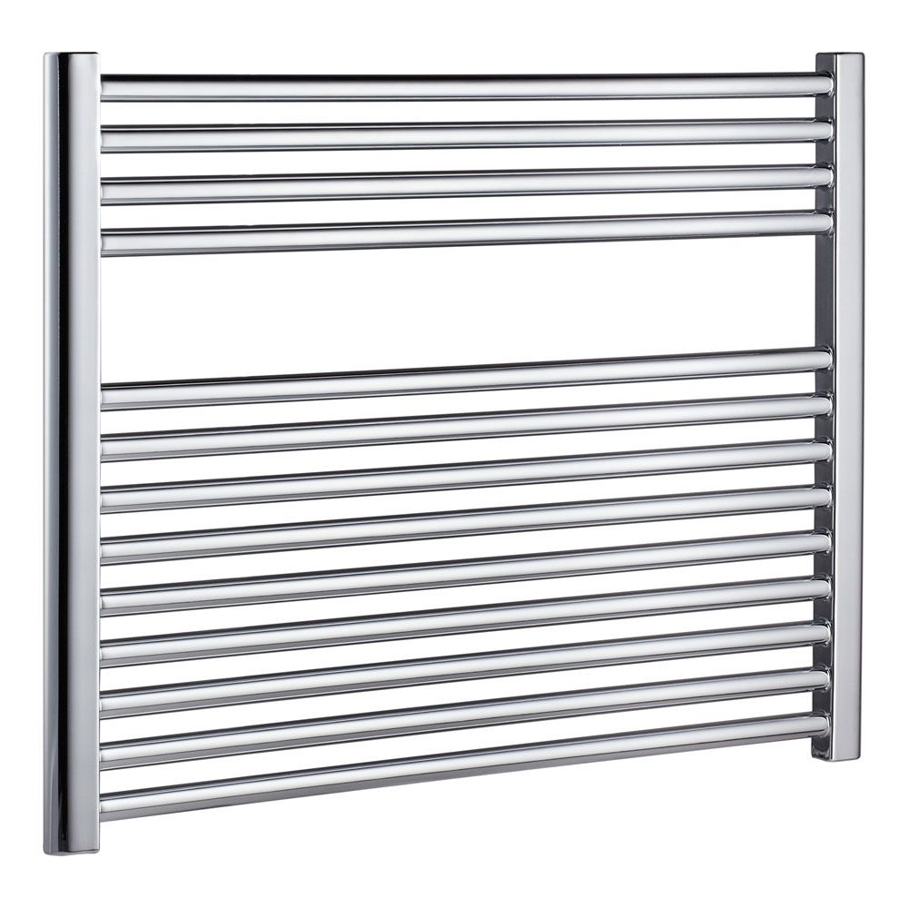 Natasha ladder rail straight modern electric towel radiator in chrome - Radox Premier Xl Horizontal Ladder Towel Rail High X Wide Stainless Steel