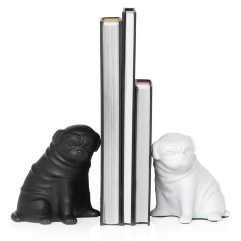 Pug bookends. Perfect since I love Pugs, but am not getting any dogs any time soon. :) $12.99