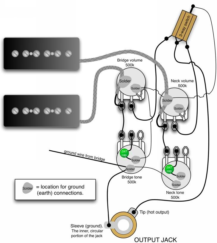 Gibson Les Paul Wiring Diagrams Subwoofer Diagram 50s Blog Data Together With 3 Modern