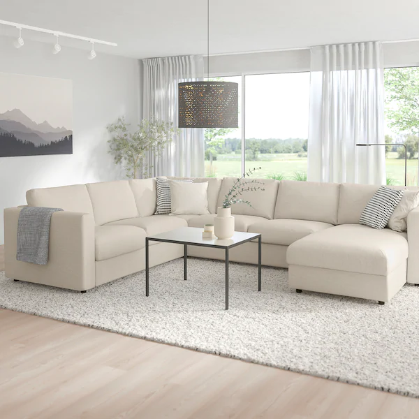 Vimle Sectional 5 Seat Corner With Chaise Gunnared Beige Ikea Ikea Sectional Sofa Sectional Sleeper Sofa U Shaped Sofa