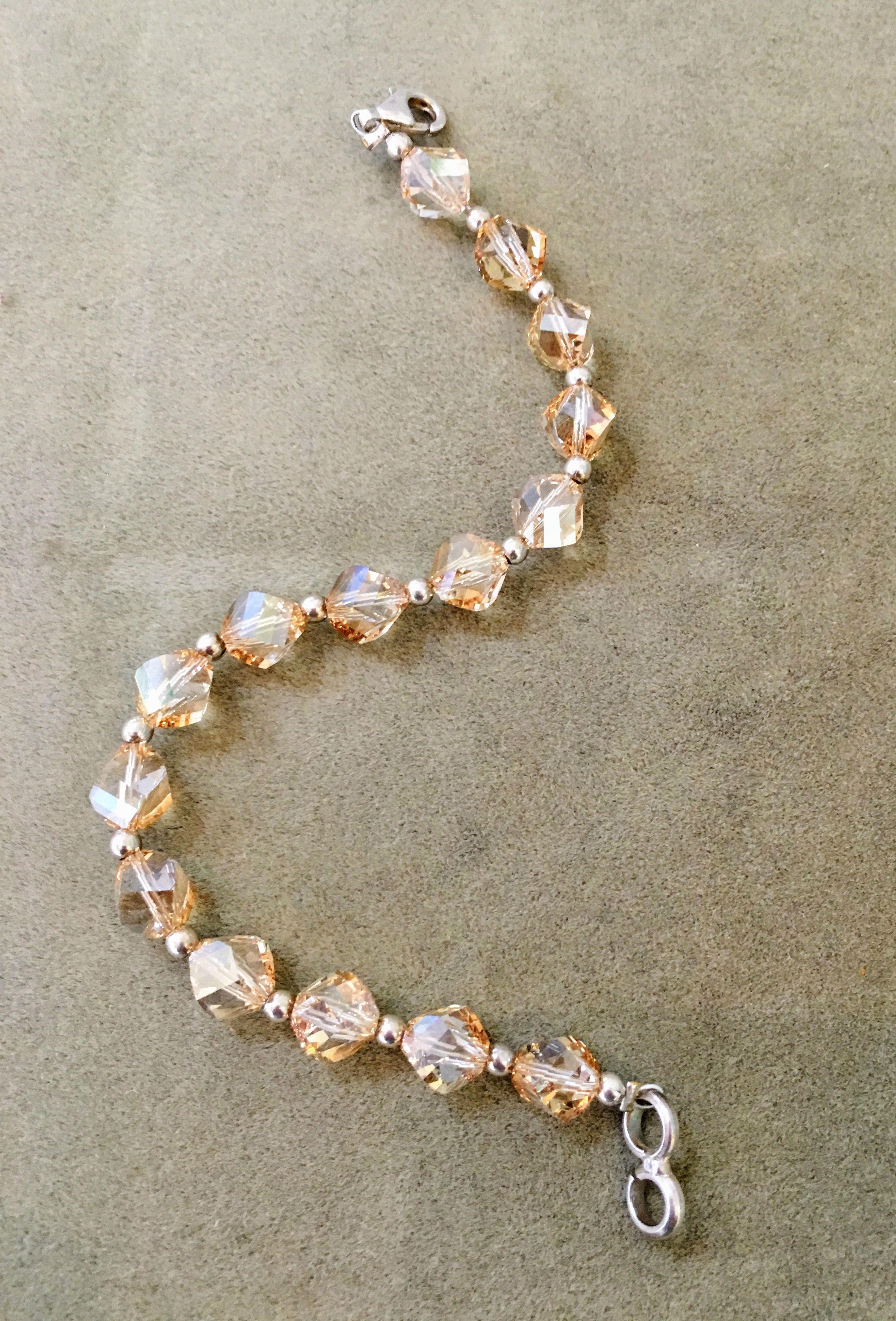 99c9d392664 Pulsera cristal swarovsky y cuentas de plata 925