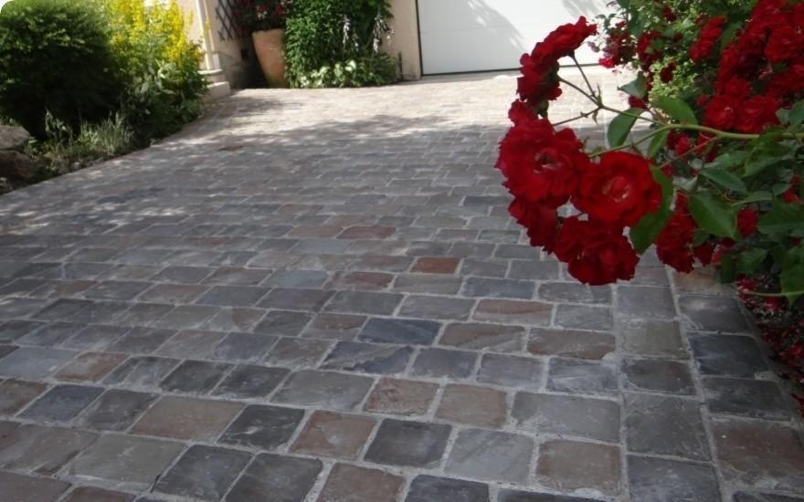 Allée de garage en Pavage - Noisy le Roy terrasse Pinterest - allee d entree maison
