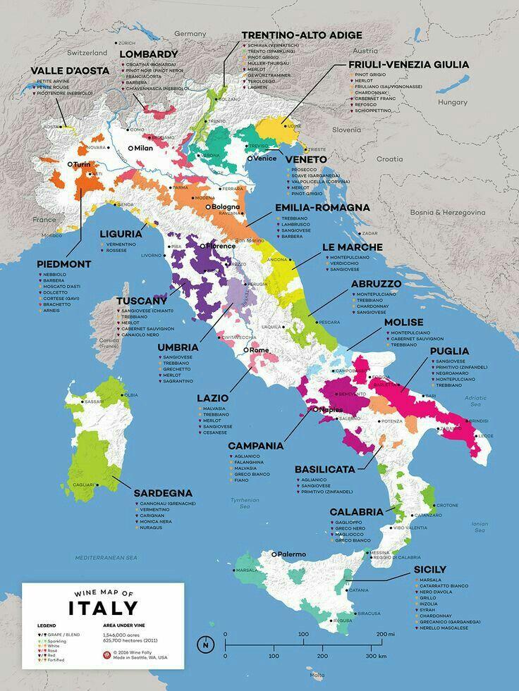 Wine Map Of Italy Tempo Di Vino