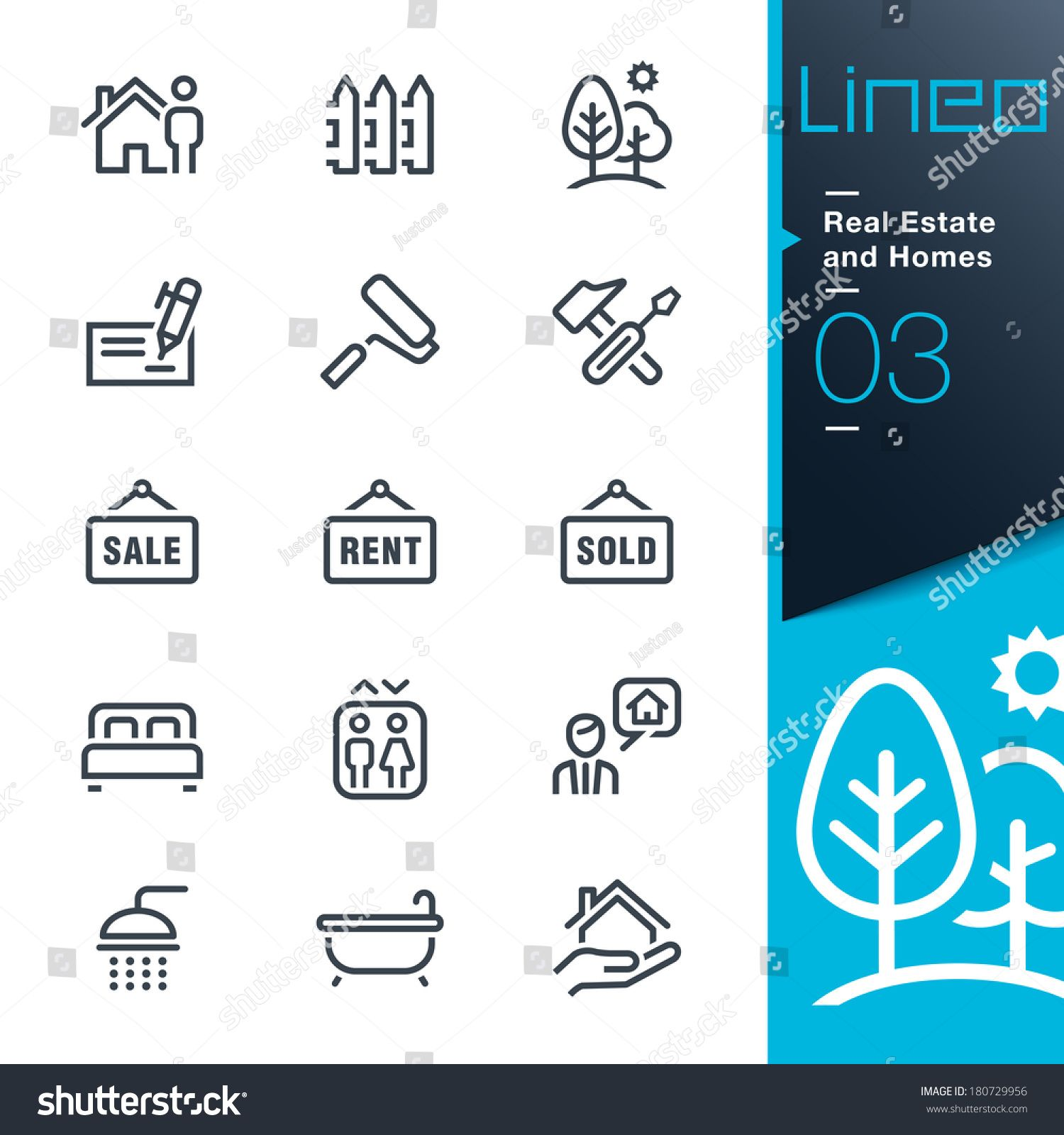 Real Estate And Homes Outline Icons Ad Sponsored Estate Real Homes Icons In 2020 Vintage Logo Design Home Icon Icon
