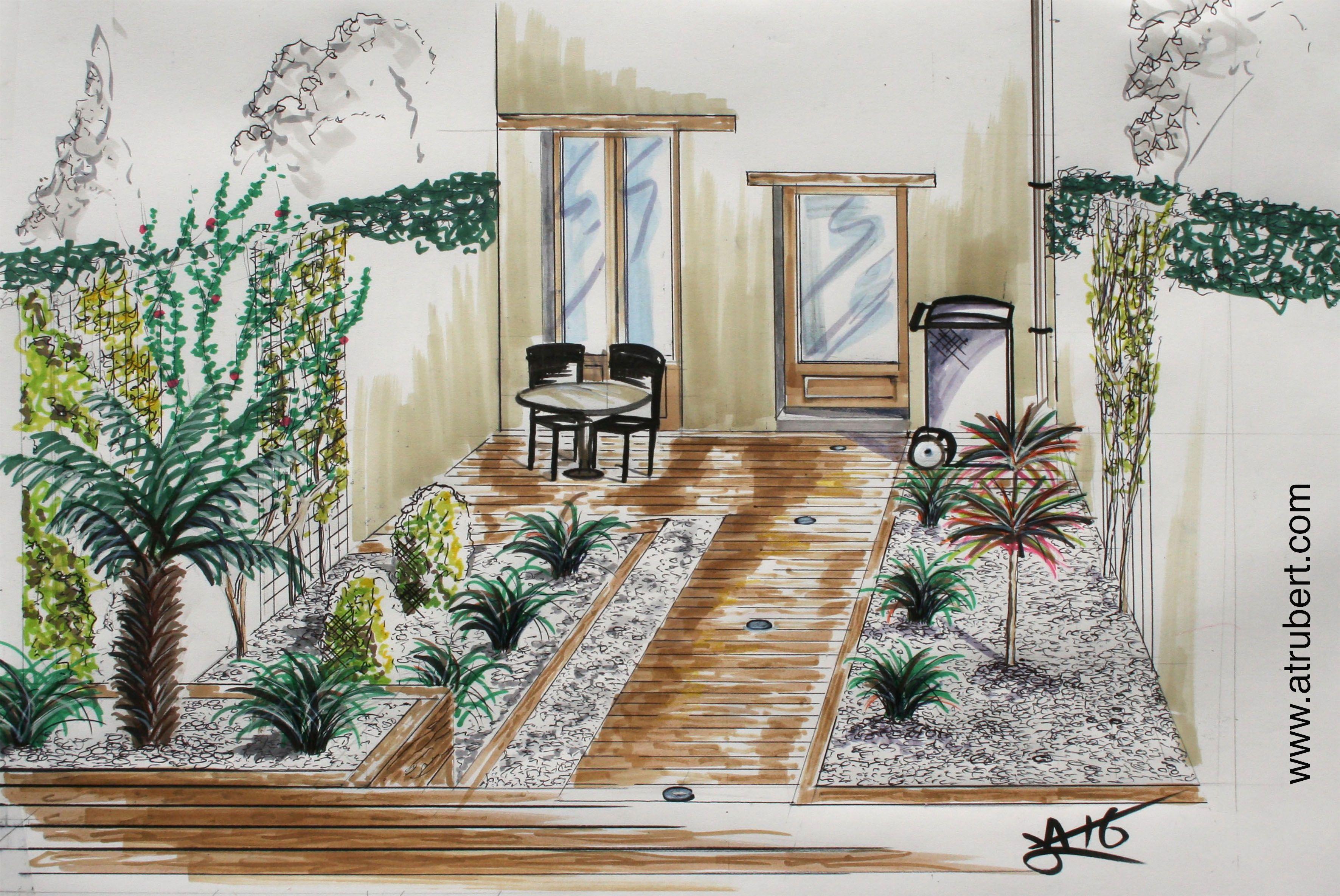 Architecte D Intérieur Decorateur dessin perspective - croquis paysage artiste : alexandre