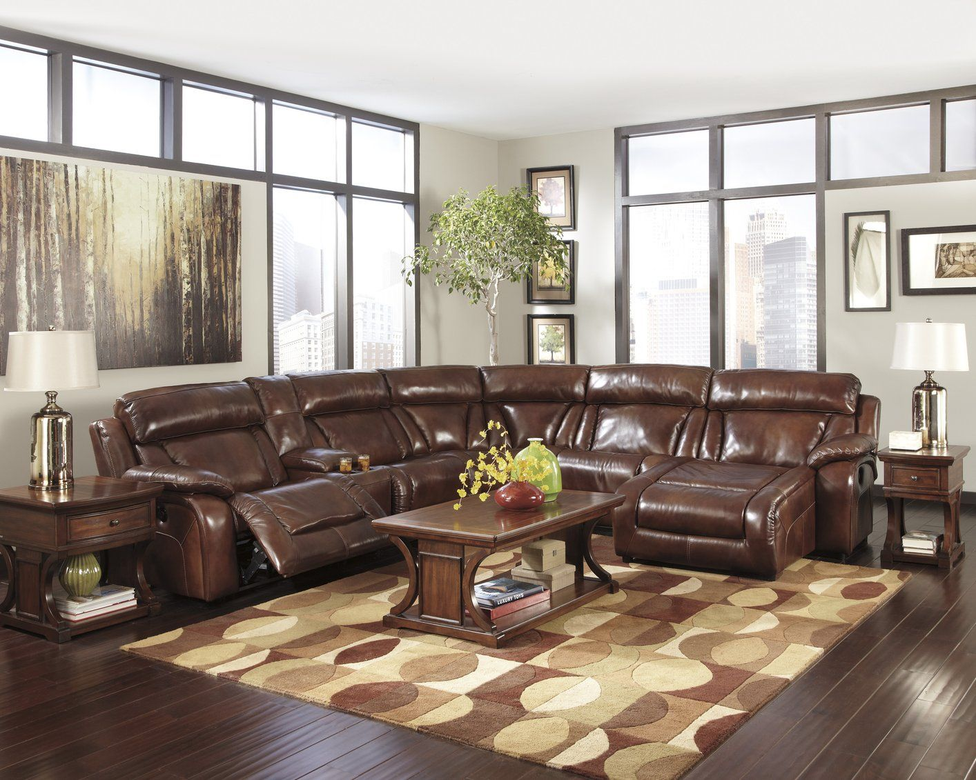 Best Leather Sectional Sofas For Small Spaces Espresso Leather 400 x 300