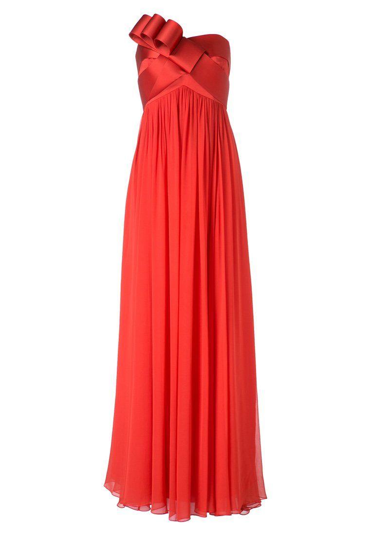 Poppy Red Evening Gown By Marchesa Notte For When Im Pregnant Exept For The Bow Rote Abendkleider Kleider Fur Balle Und Abendkleid