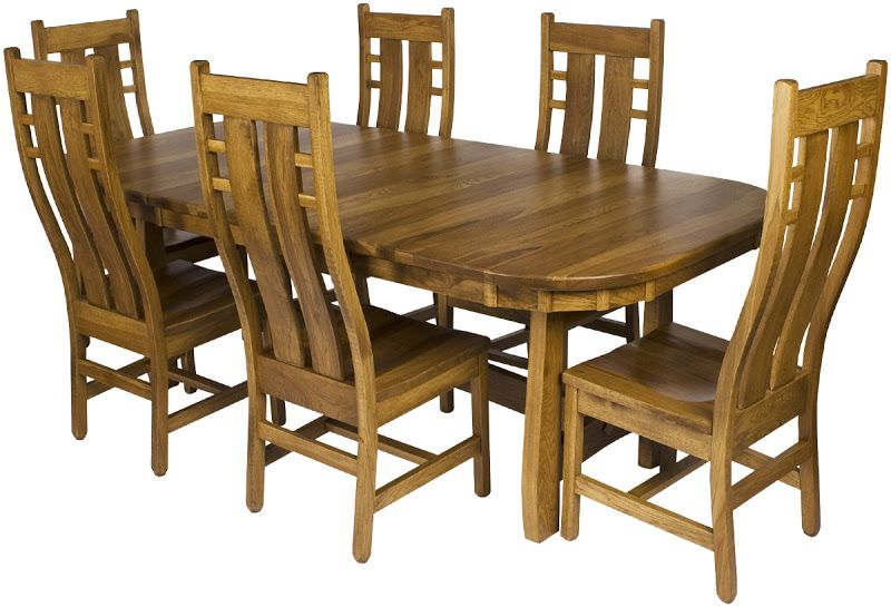 54 X 42 Montreal Dining Table With 18 Inch Leaf Timber Edge Hickory Hardwood Custom Finish From Erik Organic See The SENECA Chairs Here