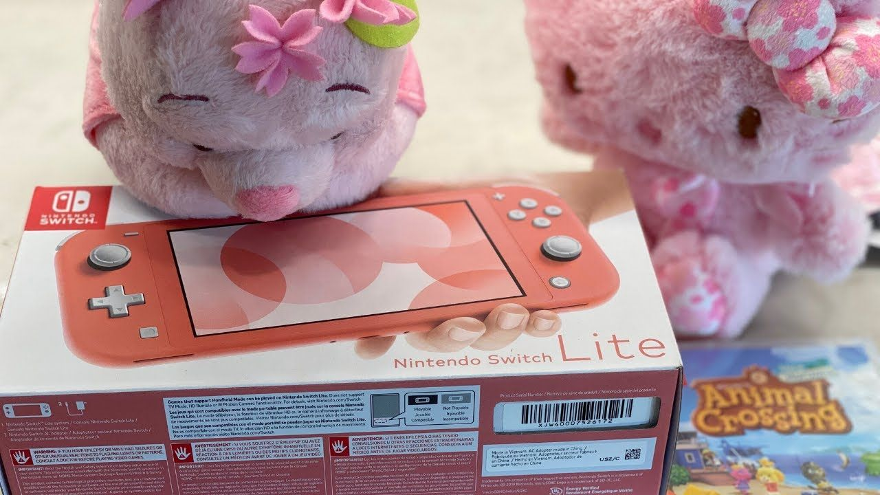 New Nintendo Switch Lite Coral Pink Silent Unboxing Review Animal Cr In 2020 Coral Pink Nintendo Switch Nintendo
