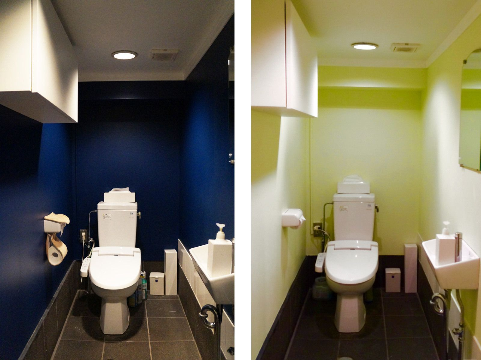 トイレの壁にペンキ塗り おしゃれdiyリフォーム実例 リフォーム Diy