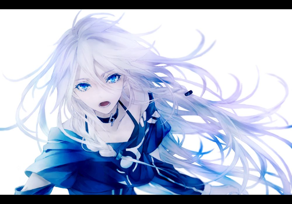 Anime Girl With White Hair Vocaloid Pinterest Anime Beautiful