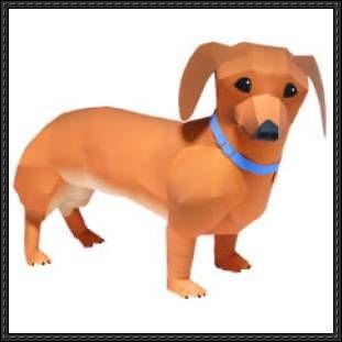 Canon Papercraft: Animals Paper Model - Dachshund Dog free