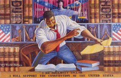 Man at work-Ernie Barnes