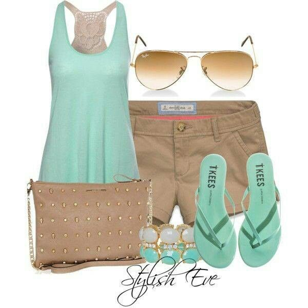 Mint Green/Tan