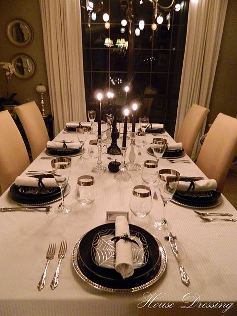 Elegant Spooky Halloween Dinner Party Adams Family Pinterest