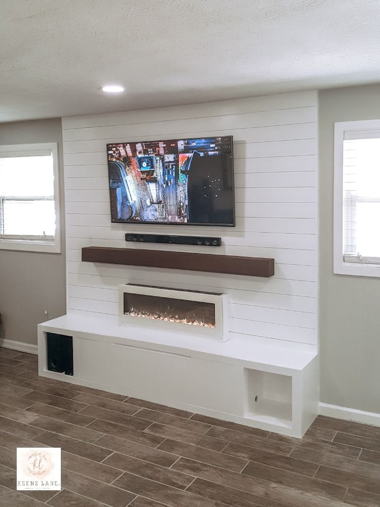 Shiplap Wall Media Center Shiplap Accent Wall Ship Lap Walls Accent Walls In Living Room