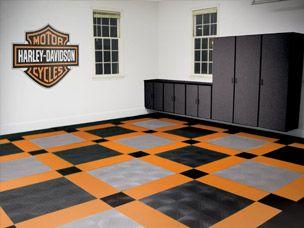 Harley Davidson Garage Flooring Racedeck Harley Davidson Decor Harley Davidson Harley Bikes